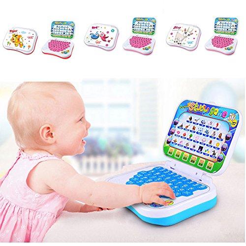 Bébé Enfants Pre l'école l'apprentissage éducatif Étude jouet étage ordinateur portable de jeu, couleur au hasard