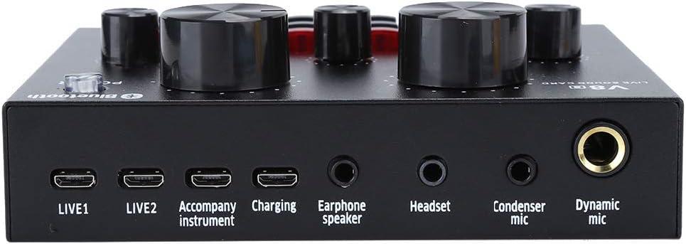 scheda audio mobile universale per esterni con effetto audio opzionale ADC-90DB trasmissione dal vivo karaoke scheda audio esterna con effetto audio cloud Scheda audio multifunzionale