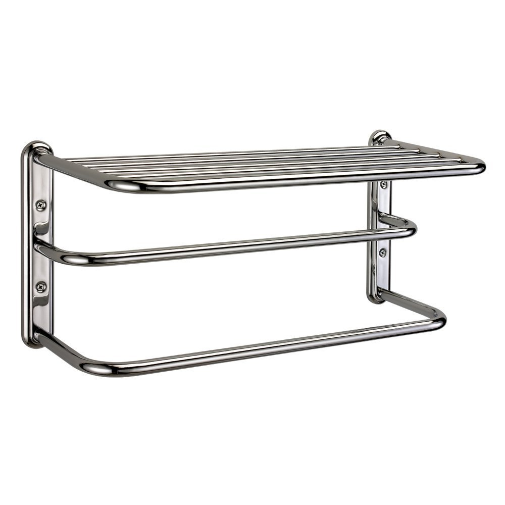 Amazon.com: Gatco 1541 Double Towel Rack with Chrome Finish: Home ...
