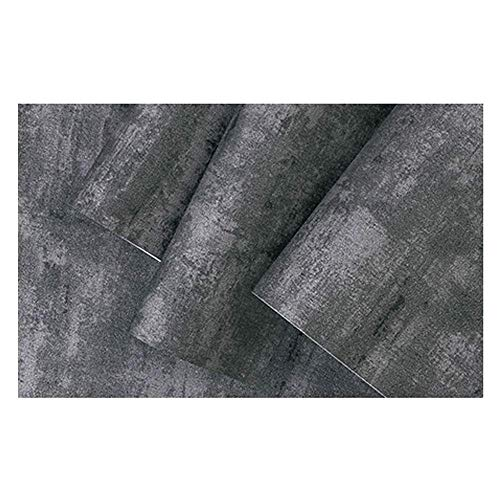 XHHWZB 3D Concrete Cement Look Wallpaper Textured Slate Gray Wallpaper for Living Room Furniture, Roll 20.8 inch x 32.8 Feet, 1 Roll Pack (Color : Style B) ()