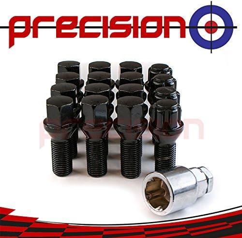 Precision Black Chrome Set of 12 Wheel Bolts /& 4 Locking Wheel Nuts for Ḿini Cooper PN.SFP-12BM425B+B425B157