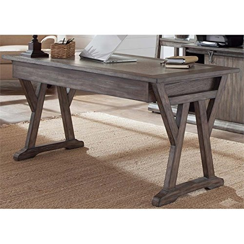 Liberty Furniture Stone Brook Computer Desk in Rustic Saddle ()