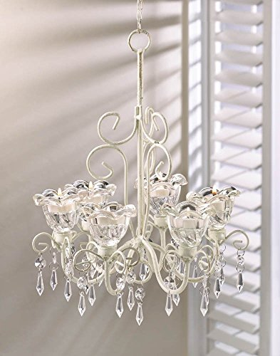 Candle Chandelier Lighting, Hanging White Chandelier Candle Light - Metal by Gallery of Light (Image #1)