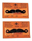 Morris Costumes Mustache Real Hair Amer Brown