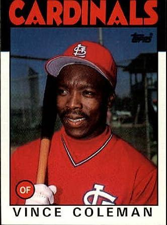 Amazoncom 1986 Topps Baseball Rookie Card 370 Vince