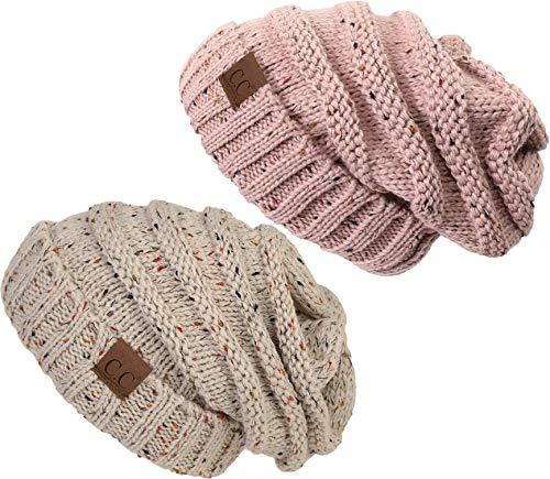 H-6100-2-206771 Oversized Bundle - 1 Confetti Oatmeal, 1 Conf Indi Pink (2 PK) ()