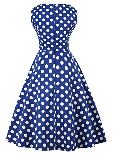 Vintage Rockabilly Azules DRT072 de Blancos 072 1950S Vestido Baile FAIRY Lunares Puntos COUPLE 3XL qf4wT8tE