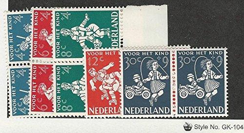 B330 Mint - Netherlands, Postage Stamp, B326-B330 Mint NH Pairs, 1958