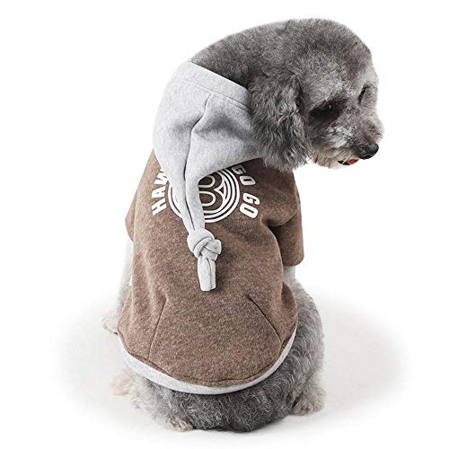 AKwell Dog Hoodie Clothes Pet Dog Cat Winter Warm Sweater Coat Costume Puppy Apparel -