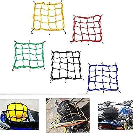 SALAKA 2PCS Moto Equipaje Cargo Net Net Casco Net con Cuerda de Gancho