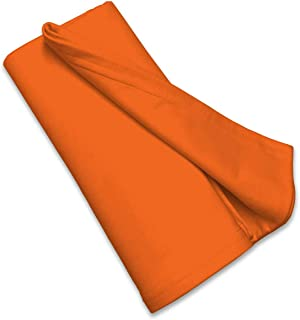 product image for SheetWorld Soft & Stretchy Swaddle Blanket 36 x 36, Burnt Orange, Made In USA