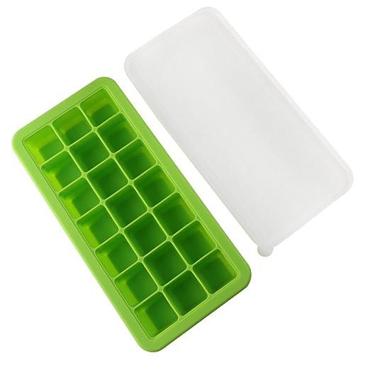 petift silicona bebé Ice Cube bandejas con tapas, comida para ...