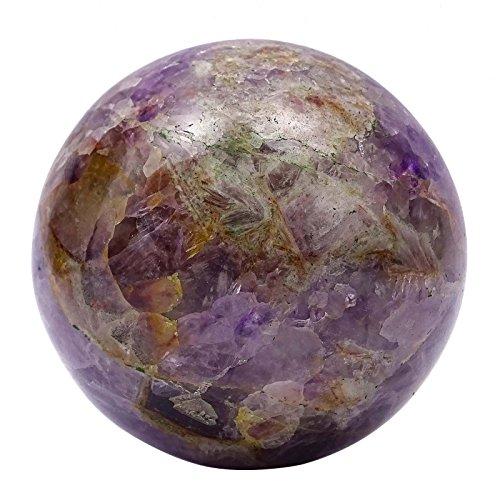 HARMONIZE Decorative Amethyst Stone Reiki Healing Stone Balancing Table Decor Sphere Ball by HARMONIZE