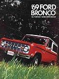 1969 FORD BRONCO BEAUTIFUL DEALERSHIP SALES BROCHURE - ADVERTISMENT All Purpose 4-Wheel Drive Vehicles
