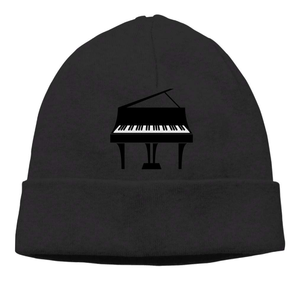 Oopp Jfhg Beanie Knit Hats Ski Cap Black Grand Piano Mens