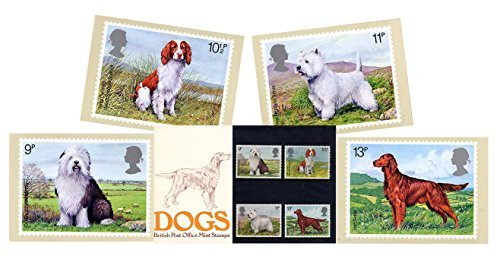 Gift Set of 1979 British Dogs Stamp Presentation Pack and PHQ Cards (Set of 4 Royal Mail Postcards) by Royal Mail Presentation Pack and PHQ Cards