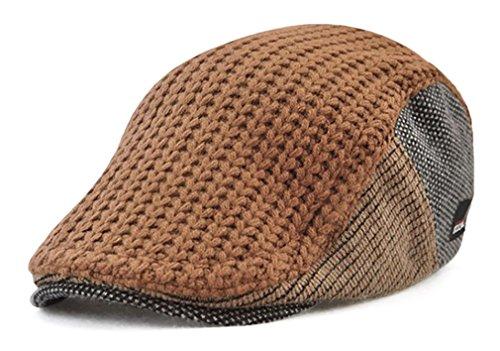 [キャプテン?ケイ] ニット ハンチング帽 メンズ キャスケット 帽子 ニット帽 フリーサイズ 調節可能