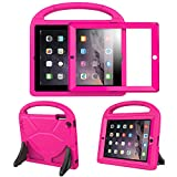 BFTOP Compatible Kids Case for iPad 2 3 4 with Built-in Screen Protector, Lightweight Shockproof Cover Case with Handle & Stand for iPad 2, iPad 3rd Generation, iPad 4th Generation Tablet - Rose