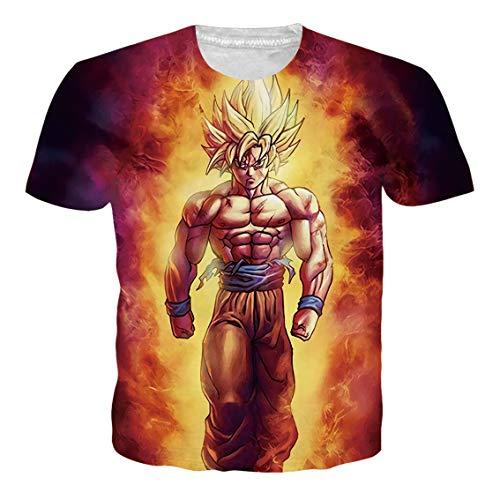 Ocsoc Women's Dragon Ball Z 3D Print Goku Collection Harajuku Kakarotto Cosplay Costume Clothing Tee T-Shirt,L]()