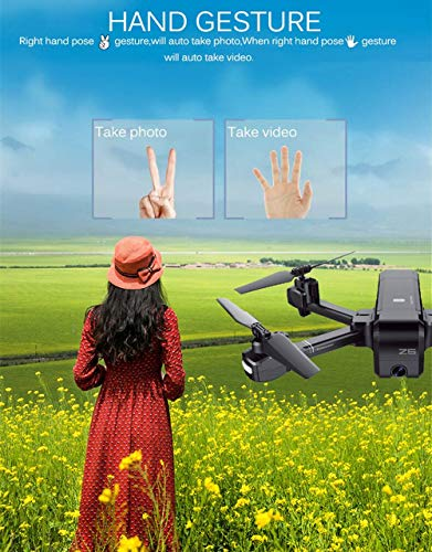 MOZATE SJ R/C Z5 GPS 1080P Wide-Angle Camera WiFi FPV RC Drone Quadcopter +Backpack (Black) by MOZATE (Image #6)