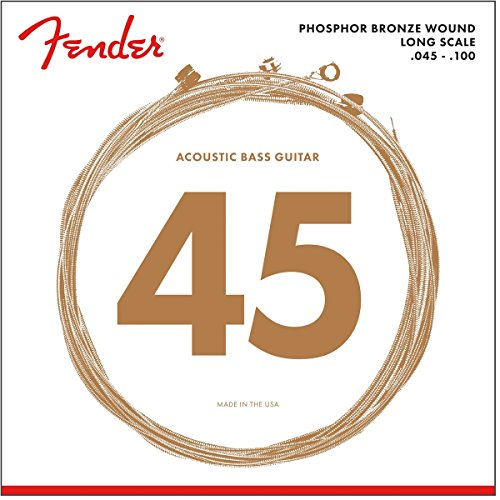 Fender 8060 Phosphor Bronze Acoustic Bass Strings - Long Scale ()
