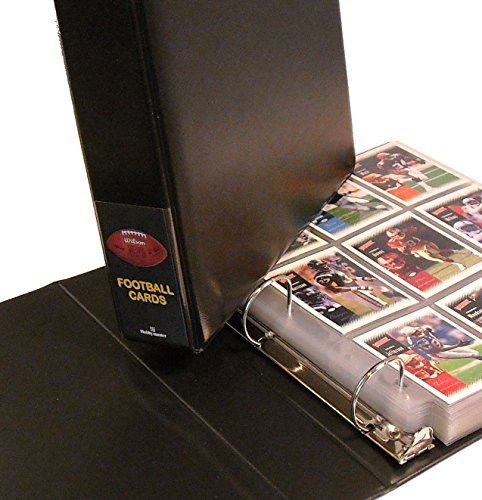 Hobbymaster Football Card Collector Album Binder - Football Design (Black)