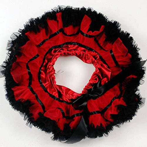Ploekgda Con Red Pettiskirts Vestido Princesa Falda 70cm Del Fluffy Plisado Gradas Red Niñas Tutú De Dance Tulle Ballet Las Size color ffRwx6qr4