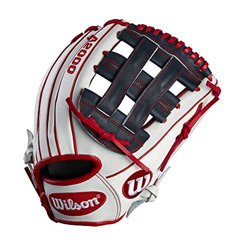 """Wilson 2018 A2000 Sr32 Gm Infield Gloves - Right Hand Throw Whiterednavy, 12"""""""
