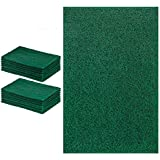 DecorRack 14 Large Cleaning Scouring Pads for Kitchen, Dishes, Bathroom, Household, Large Heavy Duty Non Scratch Scour Pad, High Quality Scrubber Sponge Dish Pads, Green (Pack of 14)