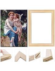 "DIY Wooden Art Frames, Art Stretcher Bars, Solid Wooden Art Frame Set for Paintings, Wall Art, Art Oil Painting Exhibition, 35x45cm/14""x18"""