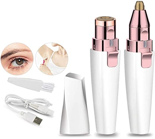 Depilación para Mujeres Depilación USB Recargable Afeitadora ...
