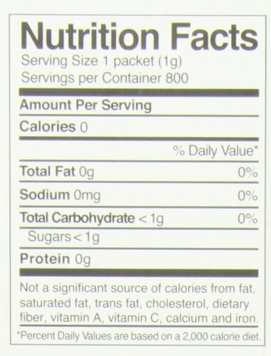 Whole Earth Pure Via Stevia Sweetener 28.2oz (800 packets)