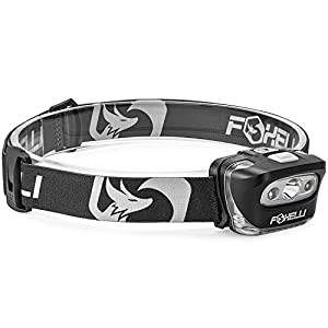 Silver and black head lamp