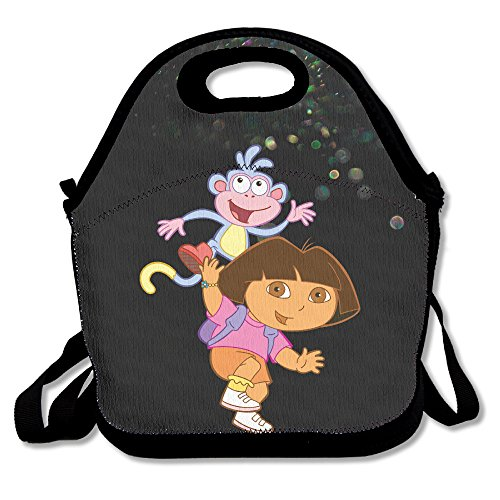 [Bekey Dora The Explorer Poster Lunch Tote Bag Lunch Box For Women Adults Kids Girls For Travel School Picnic Grocery] (Swiper Costumes For Adults)