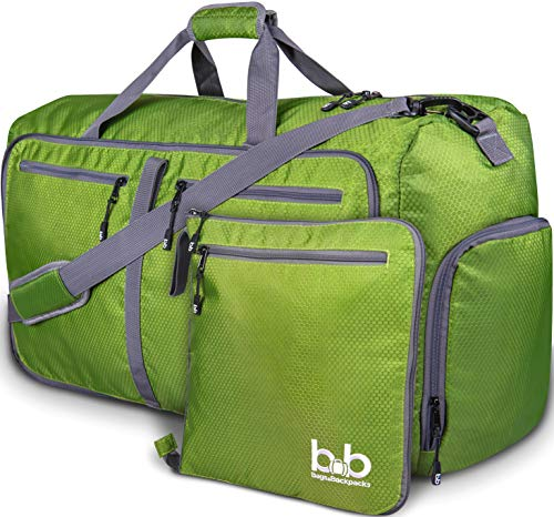 - Extra Large Duffle Bag with Pockets - Travel Duffel Bag for Women and Men (Dark Green)