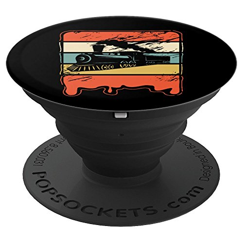 Train Railroad Locomotive Engineer Vintage Gift - PopSockets Grip and Stand for Phones and Tablets (Telephone Locomotive)