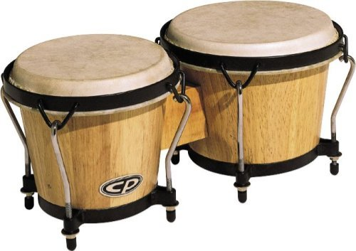Latin Percussion CP221-AW Traditional Wood Bongos - Natural