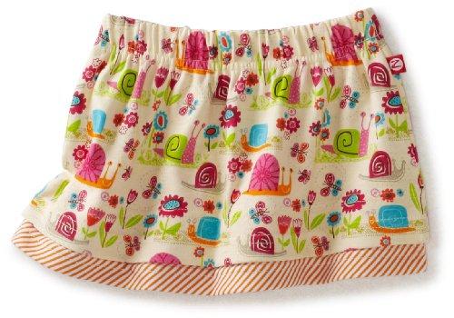 Zutano Baby Girls' Garden Snail Flounce Skirt, Cream, 12 Months