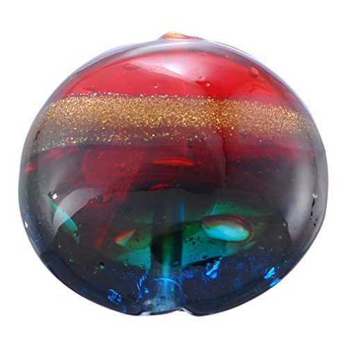 oil Lampwork Glass Beads Pack of 5pcs (Multi Color Lampwork Glass)