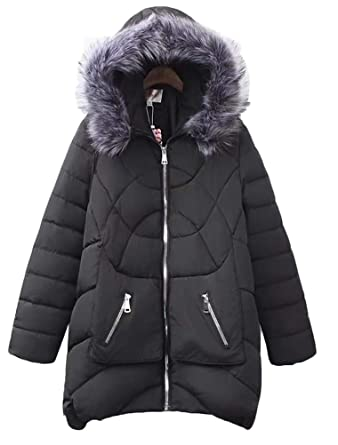 5ff24378080 Mallimoda Women s Winter Down Coat A Line Puffer Coat Thick Snow Warm Plus  Size Jackets Style