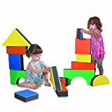 Edushape 2.5'' Jumbo Textured Blocks, Set of 32 toys