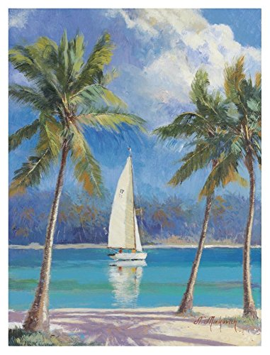 Global Gallery N. Mirkovich Island Breeze-Giclee on Paper Print-Unframed-40 x 30 in Image Size, 40