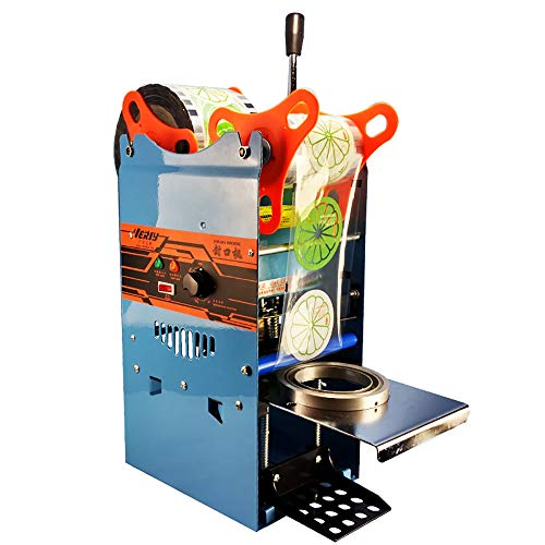 Manual Cup Sealing Machine 300-500 Cups/Hour Electric Cup Sealer for 150mm Tall &95mm Diameter Cup (110V)