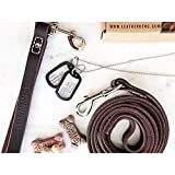 LEATHERBERG Leather Dog Training Leash - Brown 6