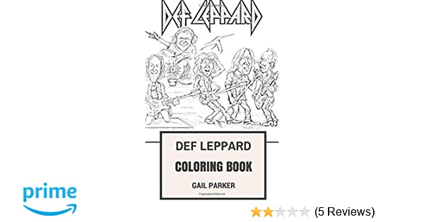Amazon.com: Def Leppard Coloring Book: Legendary Hard Rock ...
