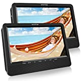 WONNIE 10.5'' Dual Screen DVD Player Portable DVD Player for Car, Great Gifts for Kids(10.5 inch Black)