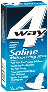 Way Saline Moisturizing Mist With Natural Eucalyptol Menthol