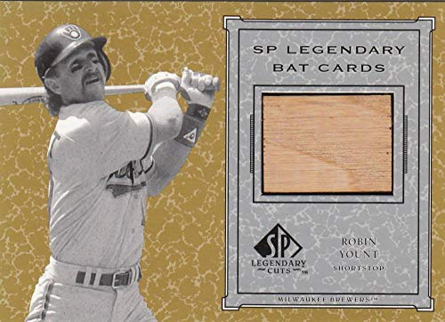 2001 SP Legendary Cuts Game Bat #B-RY Robin Yount NM-MT+ MEM Milwaukee Brewers from SP Legendary Cuts