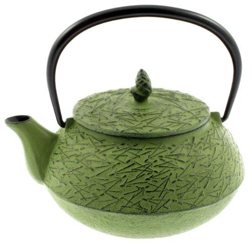 Iwachu Iron Teapot Tetsubin, Green Pine -