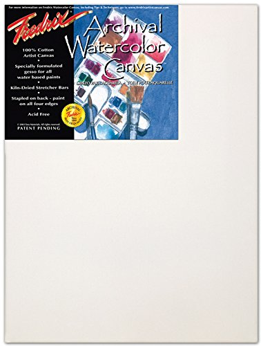 Fredrix T5538 18 in. x 24 in. Watercolor Stretched Canvas Standard Bar .69 in. x 1 .56 in. Pack Of 6